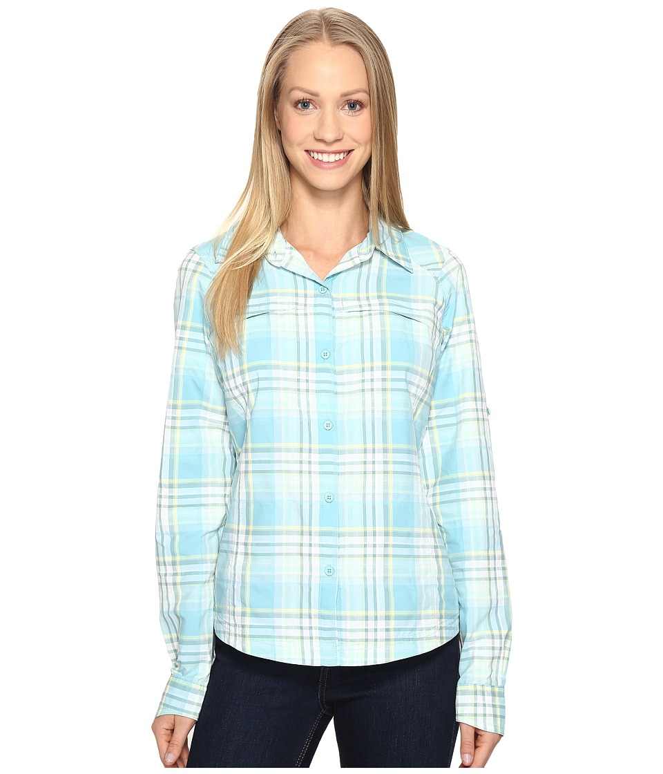 Columbia - Silver Ridgetm Plaid L/S (Iceberg Dobby Plaid) Women's Long Sleeve Button Up