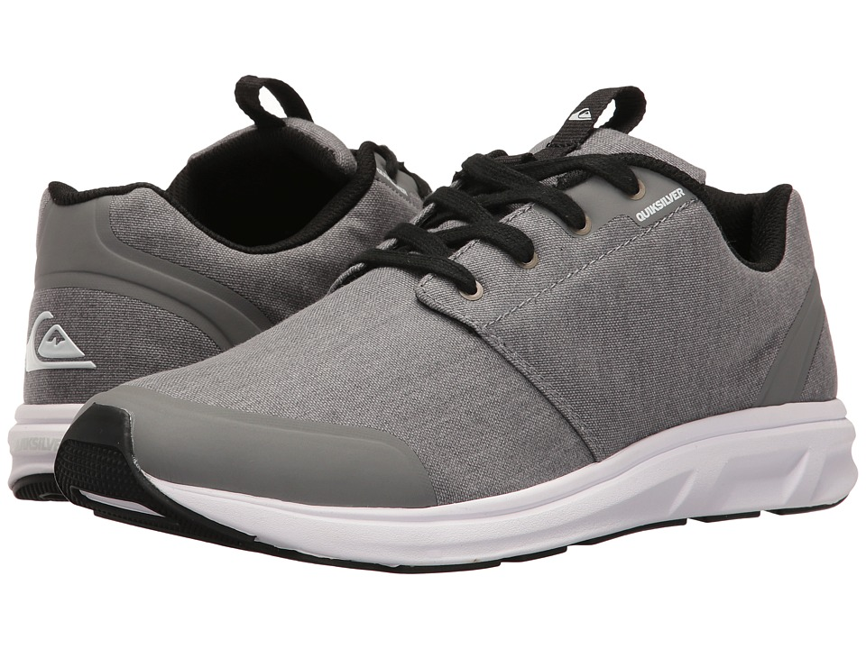Quiksilver - Voyage Textile (Grey/Grey/White) Men's Skate Shoes