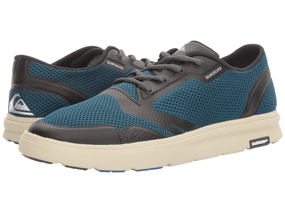 Quiksilver - Amphibian Plus (Blue/Blue/Green) Men's Skate Shoes