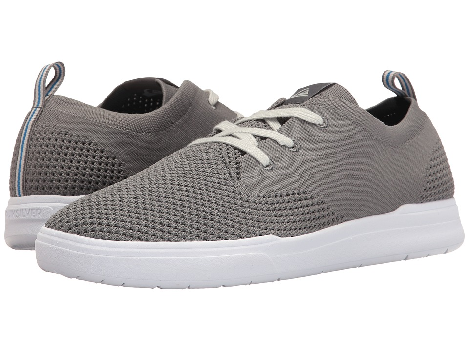 Quiksilver - Shorebreak Stretch Knit (Grey/Grey/White) Men's Skate Shoes