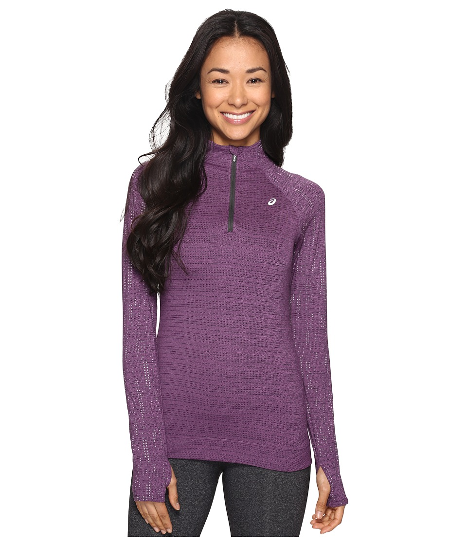 ASICS - Lite-Show 1/2 Zip Top (Orchid Heather) Women's Long Sleeve Pullover