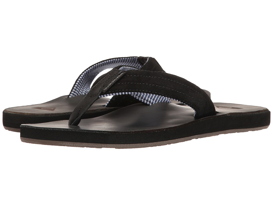 Quiksilver - Carver Crew (Black/Black/Brown) Men's Sandals
