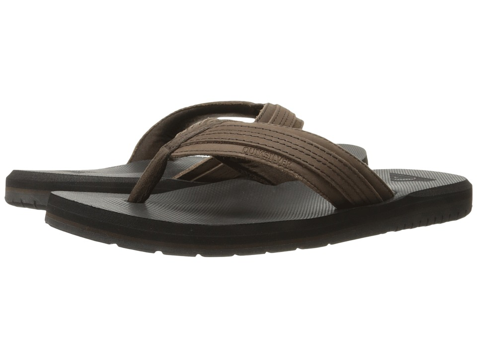 Quiksilver - Coastal Oasis (Brown/Brown/Black) Men's Sandals