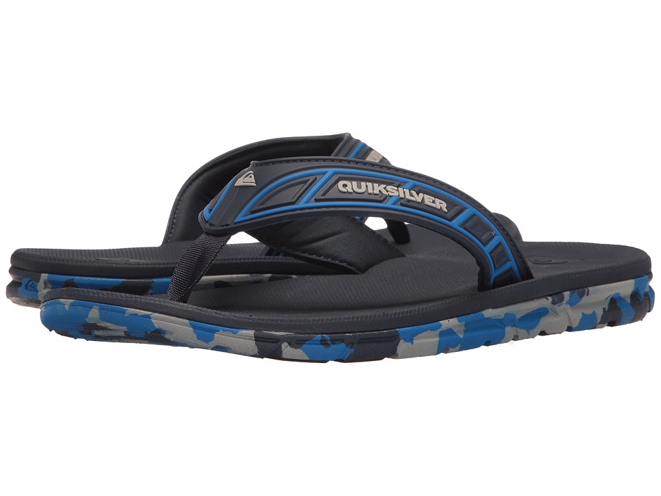 Quiksilver - Flow (Blue/Blue/Grey) Men's Sandals