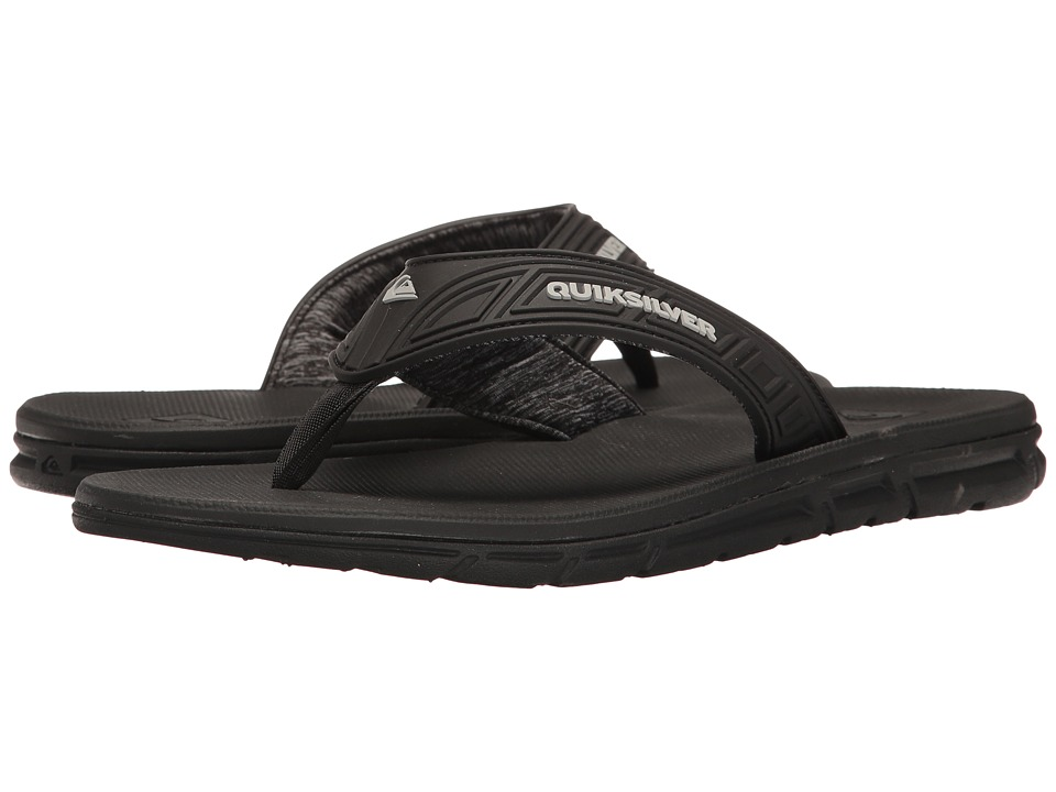 Quiksilver - Flow (Black/Grey/Black) Men's Sandals