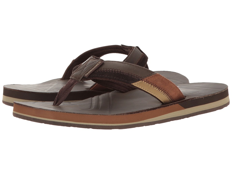 Quiksilver - Hiatus (Brown/Black/Brown) Men's Sandals