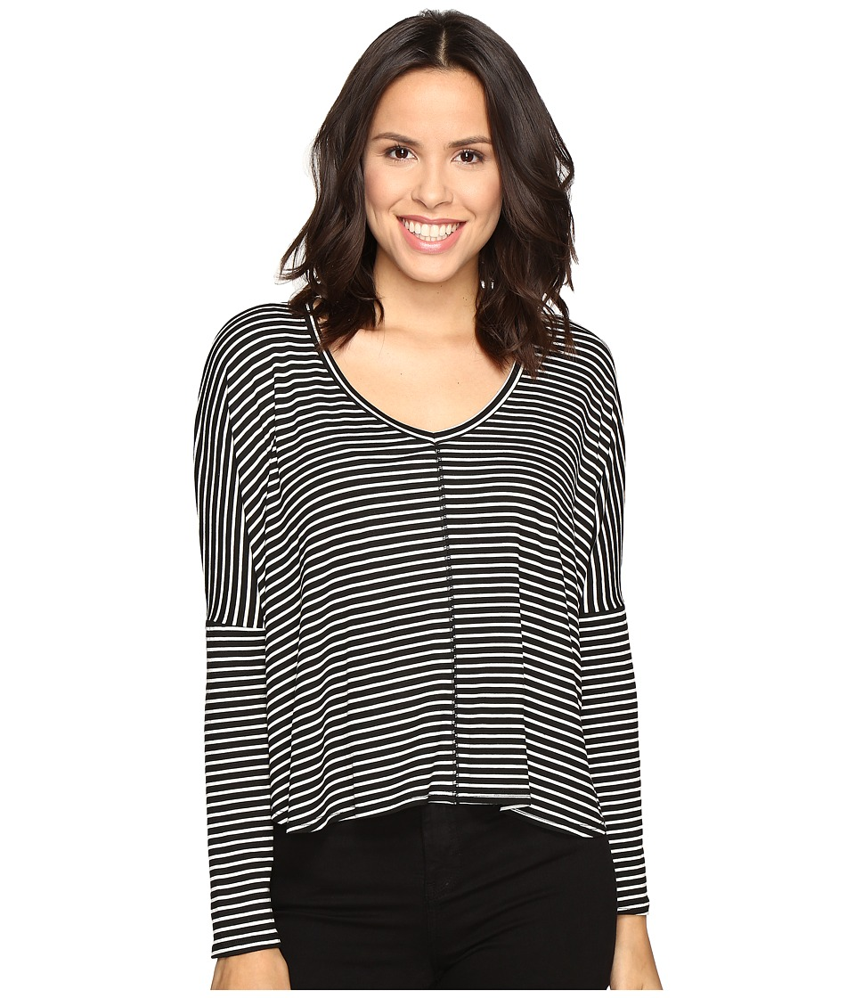 Project Social T - Marley Stripe (Black/White) Women's Clothing