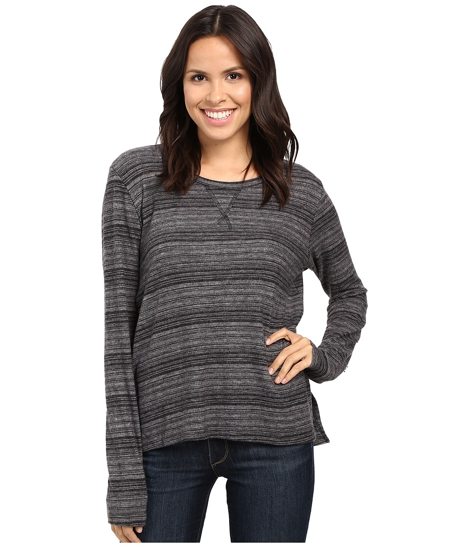 Project Social T - Stormy Stitched Sweater (Charcoal Space Dye) Women's Sweater