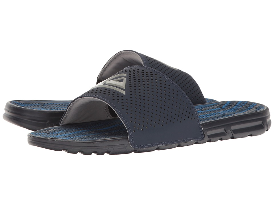 Quiksilver - Amphibian Slide (Blue/Blue/Grey) Men's Sandals