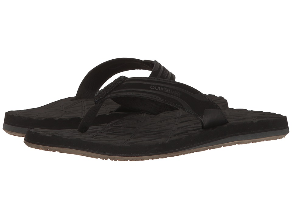 Quiksilver - Monkey Texture II (Black/Black/Brown) Men's Sandals