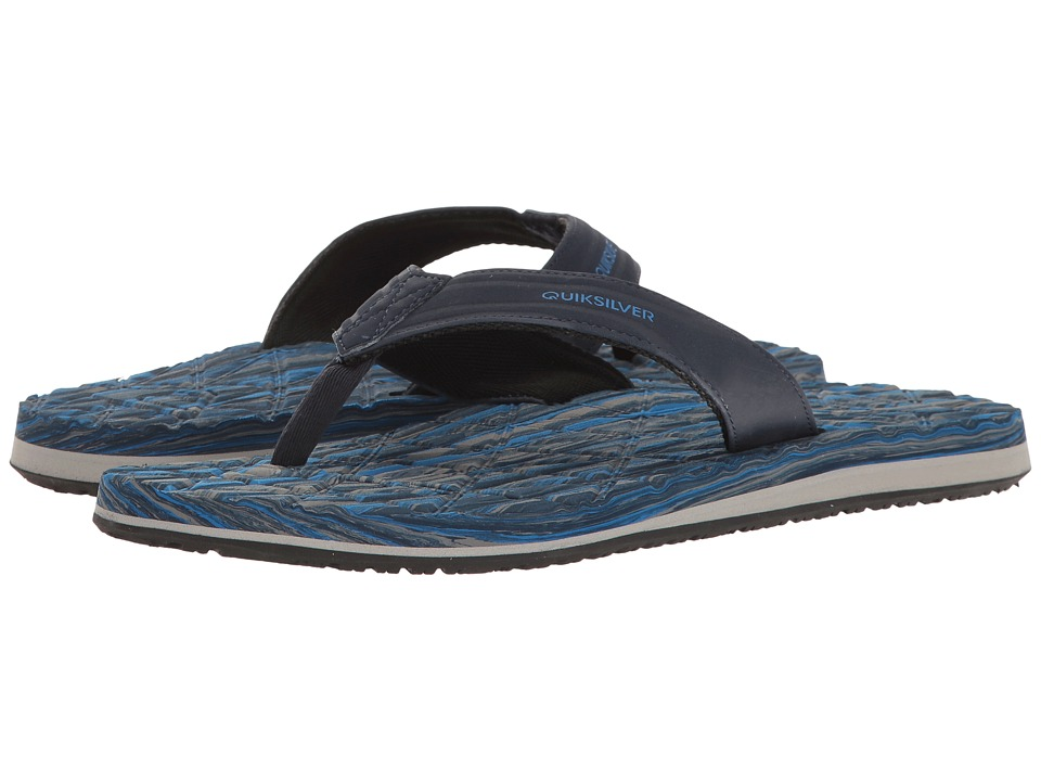 Quiksilver - Monkey Texture II (Blue/Blue/Grey) Men's Sandals