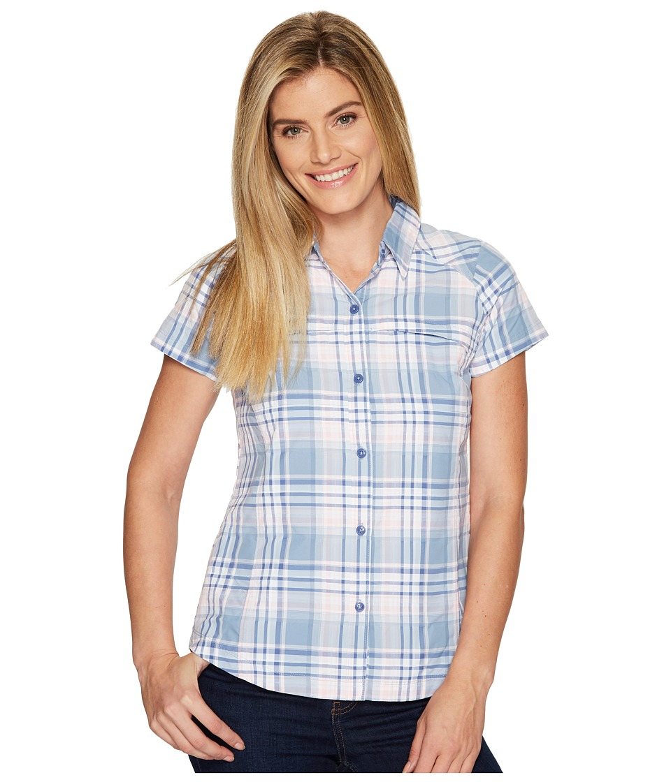 Columbia - Silver Ridgetm Multiplaid S/S Shirt (Beacon Dobby Plaid) Women's Short Sleeve Button Up