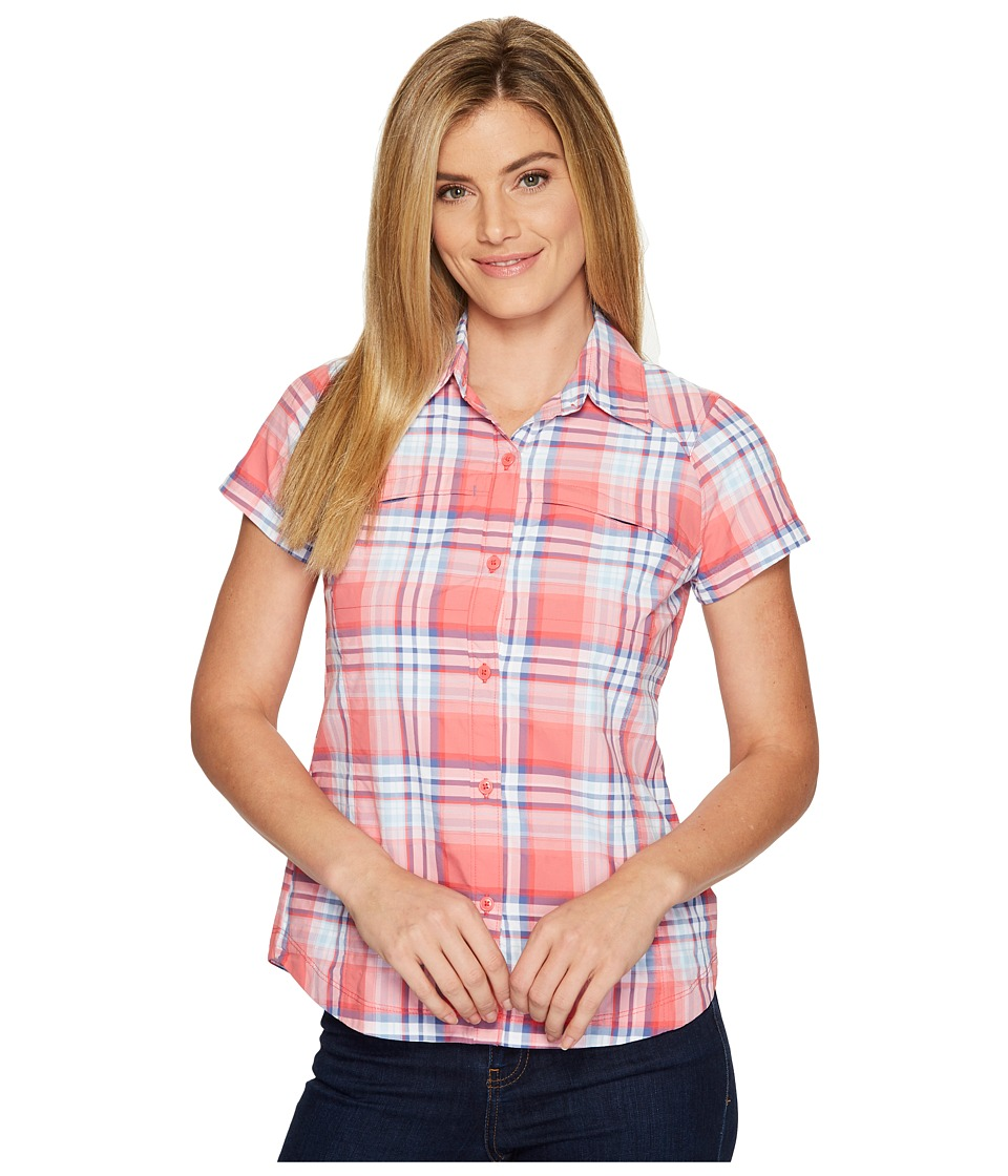Columbia - Silver Ridgetm Multiplaid S/S Shirt (Red Camellia Dobby Plaid) Women's Short Sleeve Button Up
