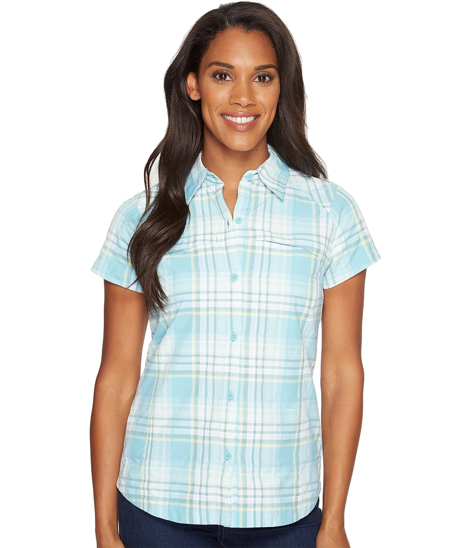 Columbia - Silver Ridgetm Multiplaid S/S Shirt (Iceberg Dobby Plaid) Women's Short Sleeve Button Up