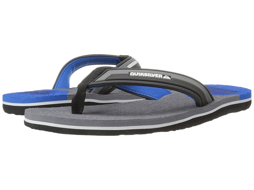 Quiksilver - Molokai New Wave Deluxe (Black/Grey/Blue) Men's Sandals