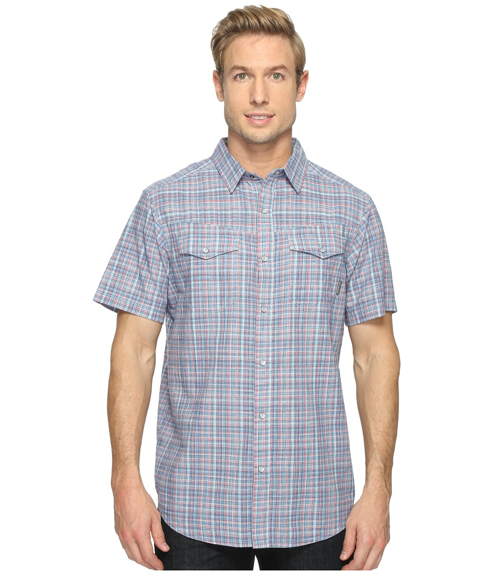 Columbia - Leadville Ridgetm Short Sleeve Shirt (Marine Blue Plaid) Men's Short Sleeve Button Up