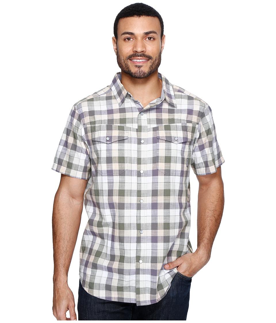 Columbia - Leadville Ridgetm Short Sleeve Shirt (Granite Check) Men's Short Sleeve Button Up
