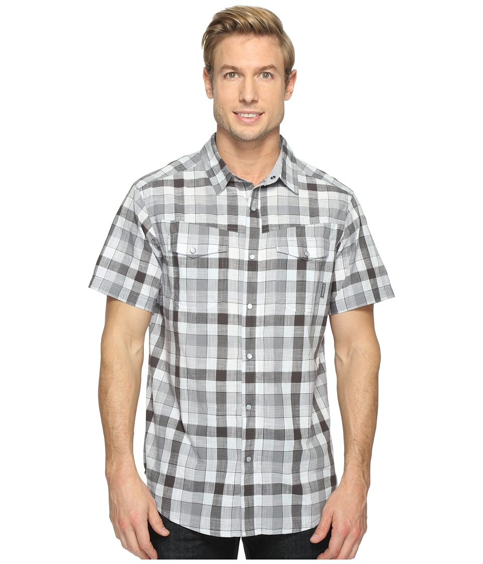 Columbia - Leadville Ridgetm Short Sleeve Shirt (Black Check) Men's Short Sleeve Button Up
