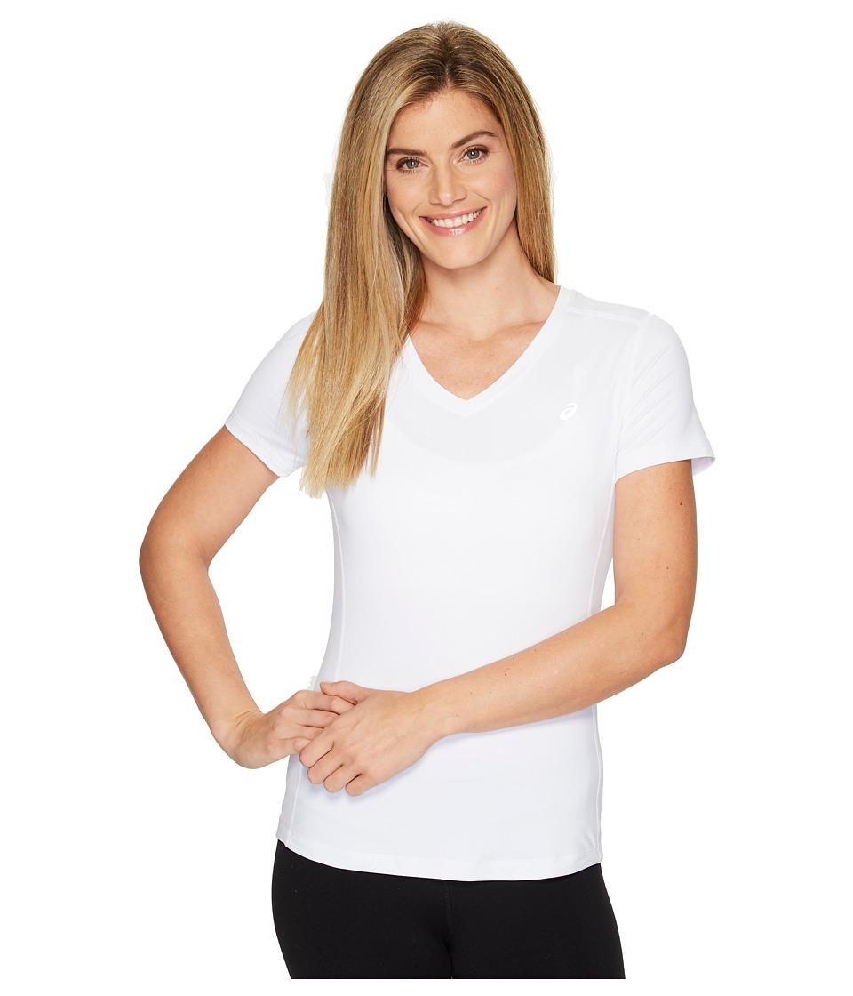 ASICS ASX Dry Short Sleeve Shirt (Real White) Women