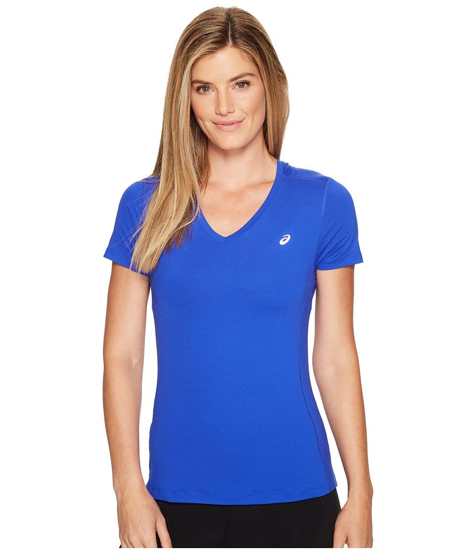 ASICS ASX Dry Short Sleeve Shirt (New Blue) Women
