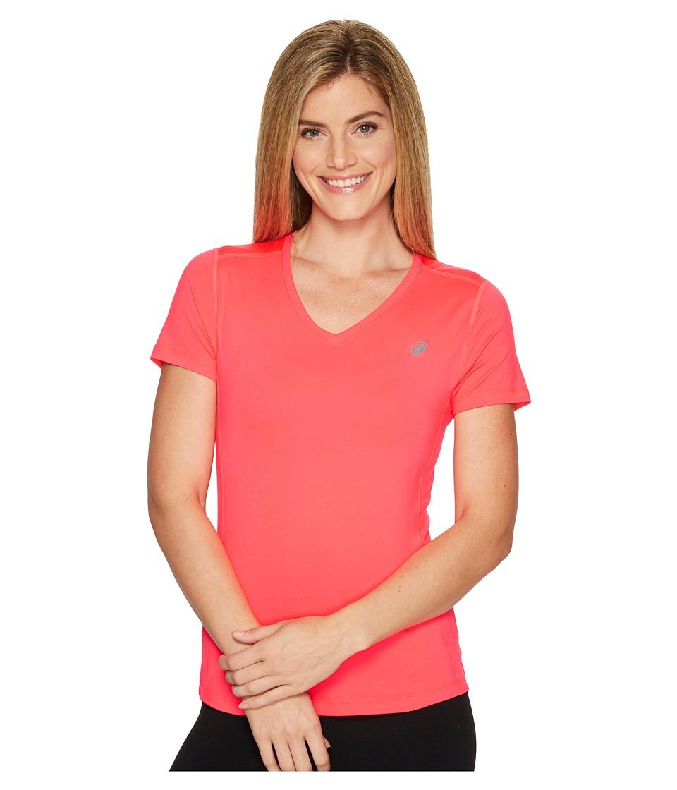 ASICS ASX Dry Short Sleeve Shirt (Diva Pink) Women