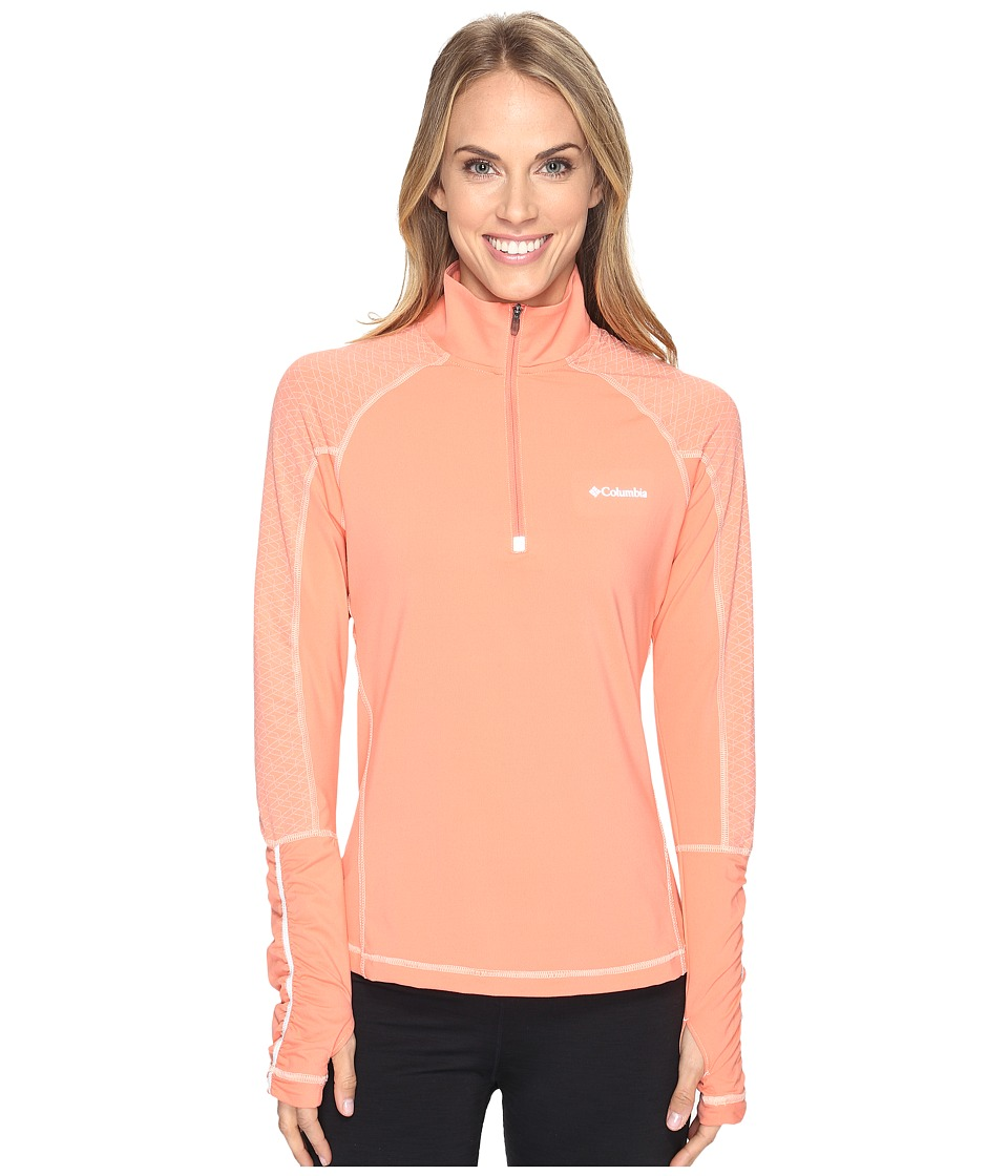 Columbia - Trail Flashtm 1/2 Zip Shirt (Lychee/Light Coral) Women's Long Sleeve Pullover