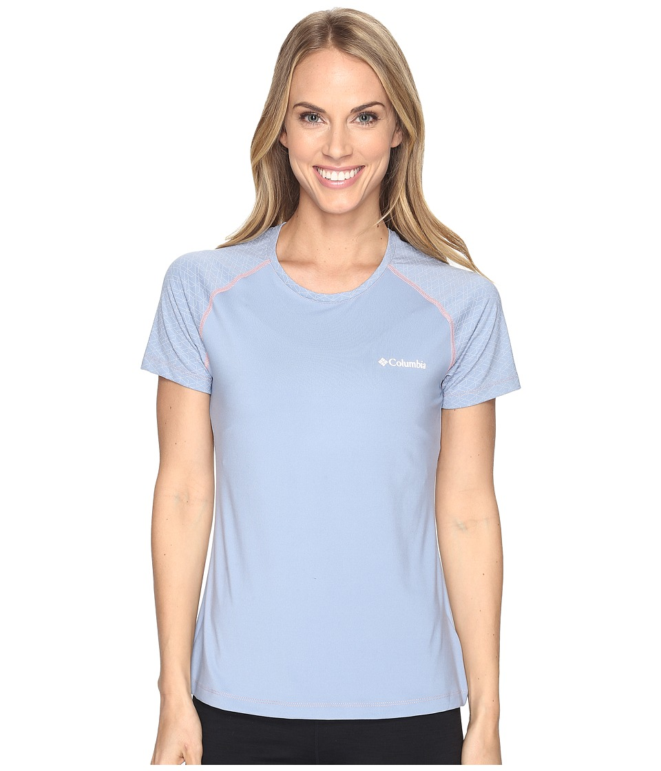 Columbia - Trail Flashtm Short Sleeve Shirt (Beacon/Cherry Blossom) Women's Short Sleeve Pullover