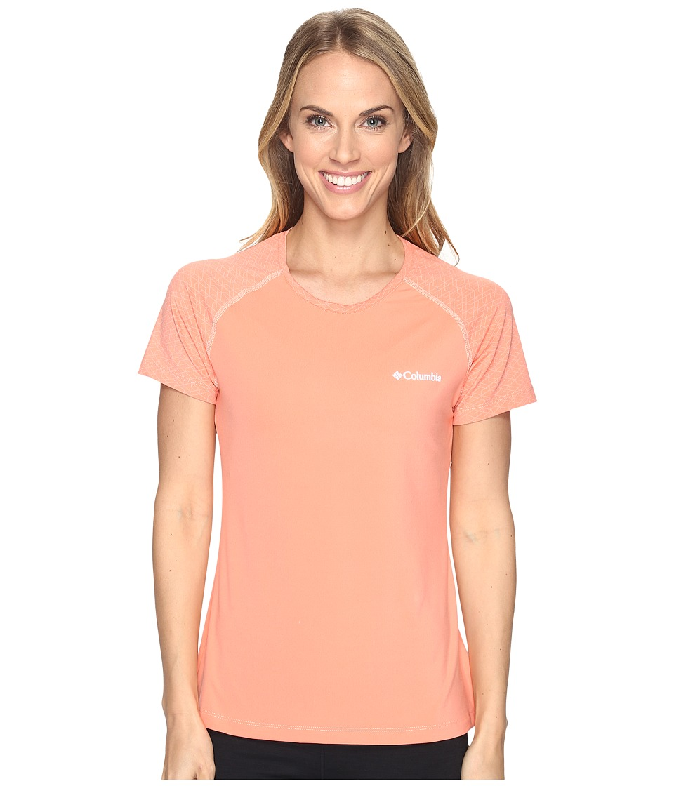 Columbia - Trail Flashtm Short Sleeve Shirt (Lychee/Light Coral) Women's Short Sleeve Pullover