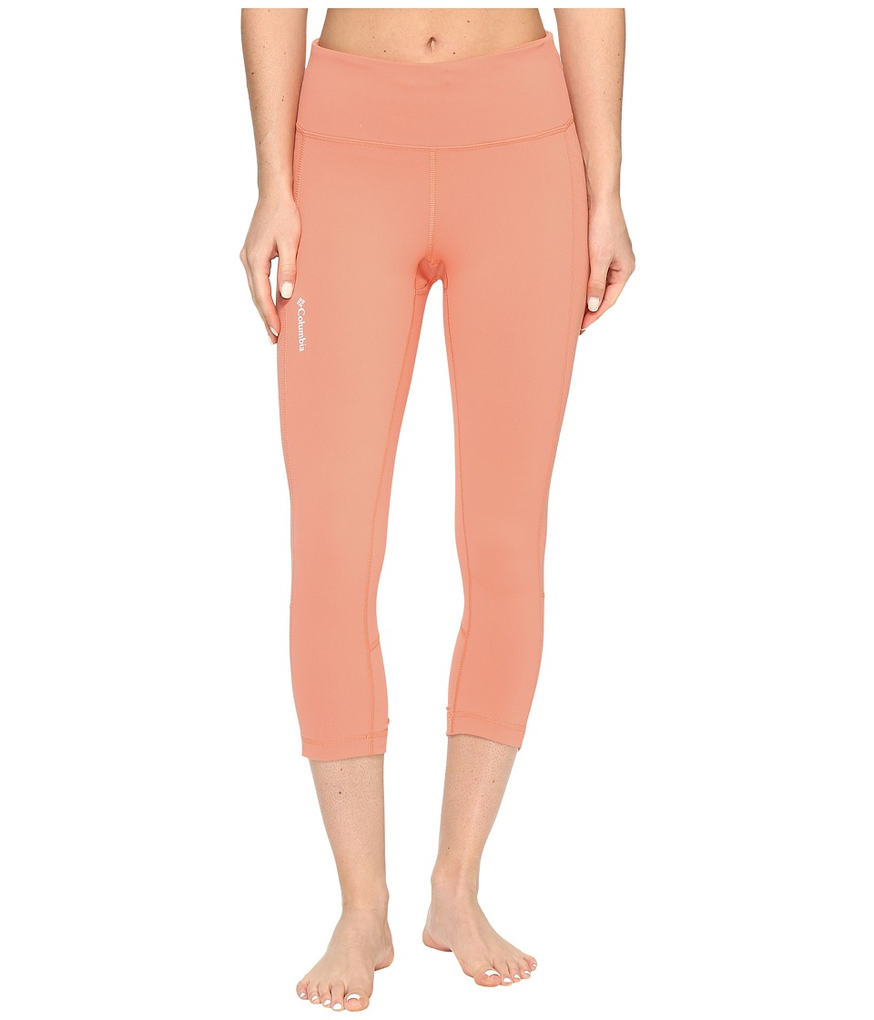Columbia Trail Flashtm Capri Pants (Lychee/Light Coral) Women