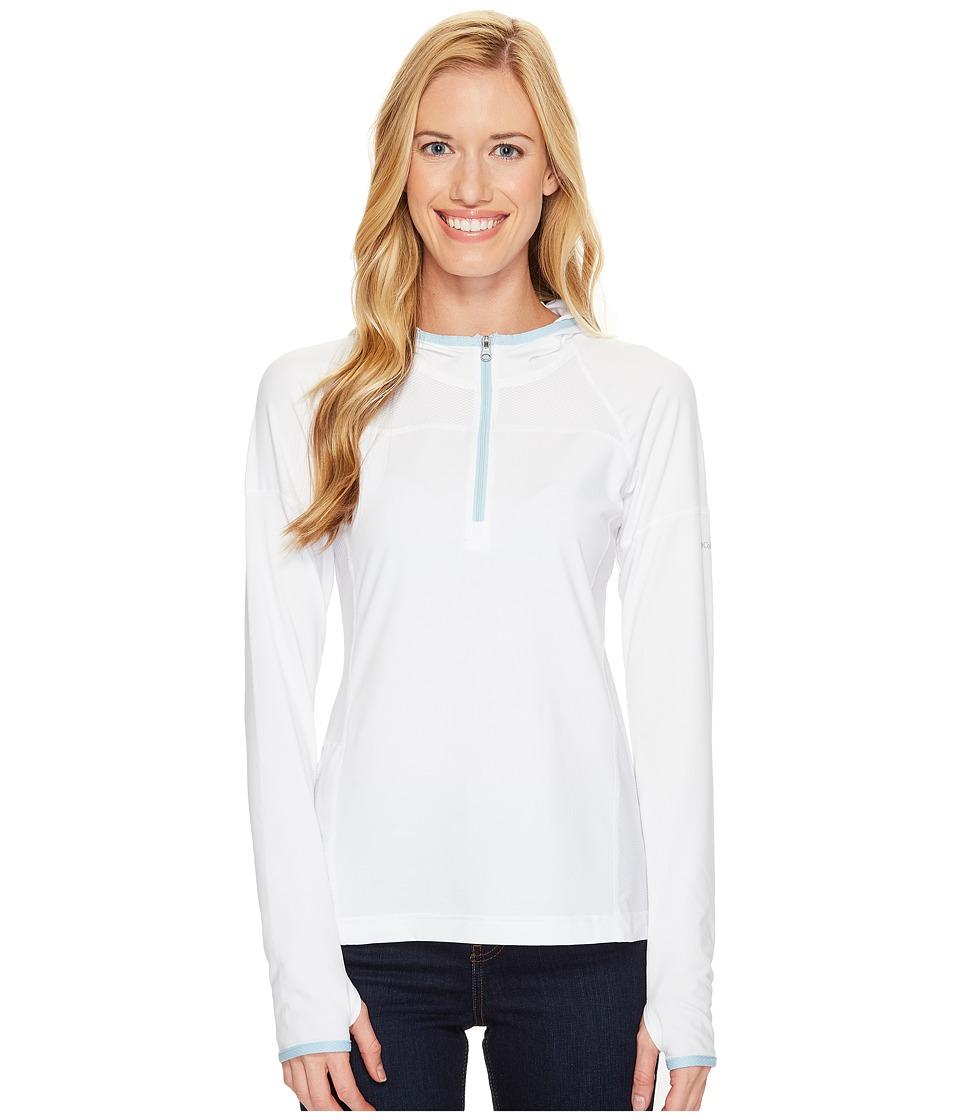Columbia - Solar Ridge Hoodie (White/Oxygen) Women's Sweatshirt