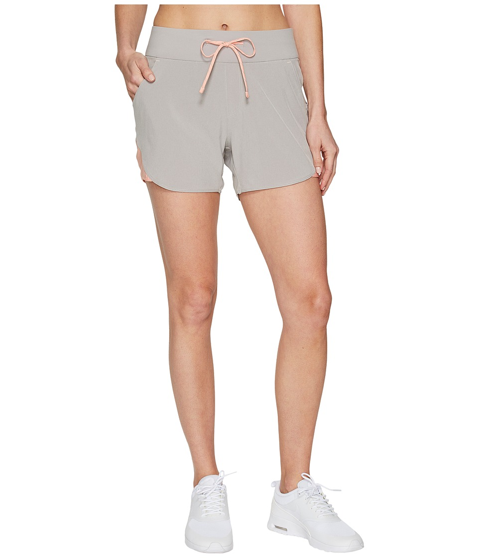 Columbia - Solar Ridge Shorts (Flint Grey/Light Coral) Women's Shorts