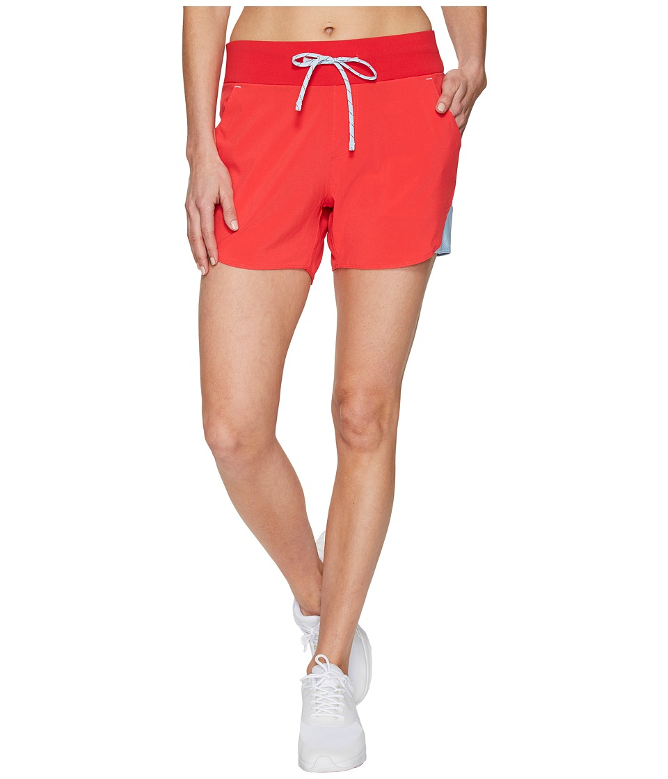 Columbia Solar Ridge Shorts (Red Camellia/Oxygen) Women
