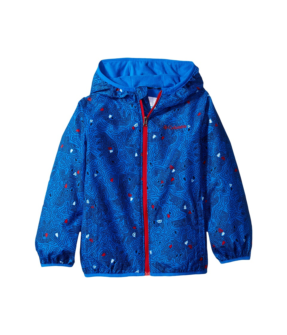 Columbia Kids - Mini Pixel Grabbertm II Wind Jacket (Infant/Toddler) (Super Blue Topo Animals/Super Blue Mountain Red) Boy's Coat