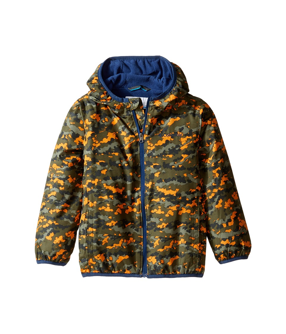 Columbia Kids - Mini Pixel Grabbertm II Wind Jacket (Infant/Toddler) (Cypress Camo/Carbon) Boy's Coat