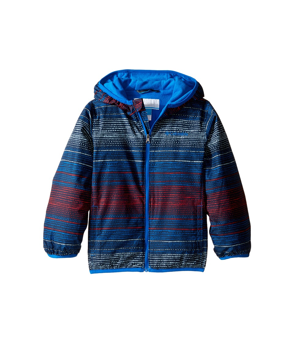 Columbia Kids - Mini Pixel Grabbertm II Wind Jacket (Infant/Toddler) (Super Blue Dotty Dye Stripe/Super Blue) Boy's Coat