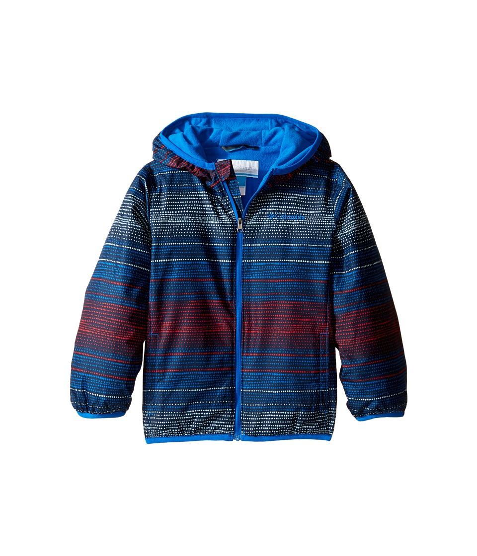 Columbia Kids - Mini Pixel Grabbertm II Wind Jacket (Infant/Toddler) (Super Blue Dotty Dye Stripe/Super Blue) Boy's Coat