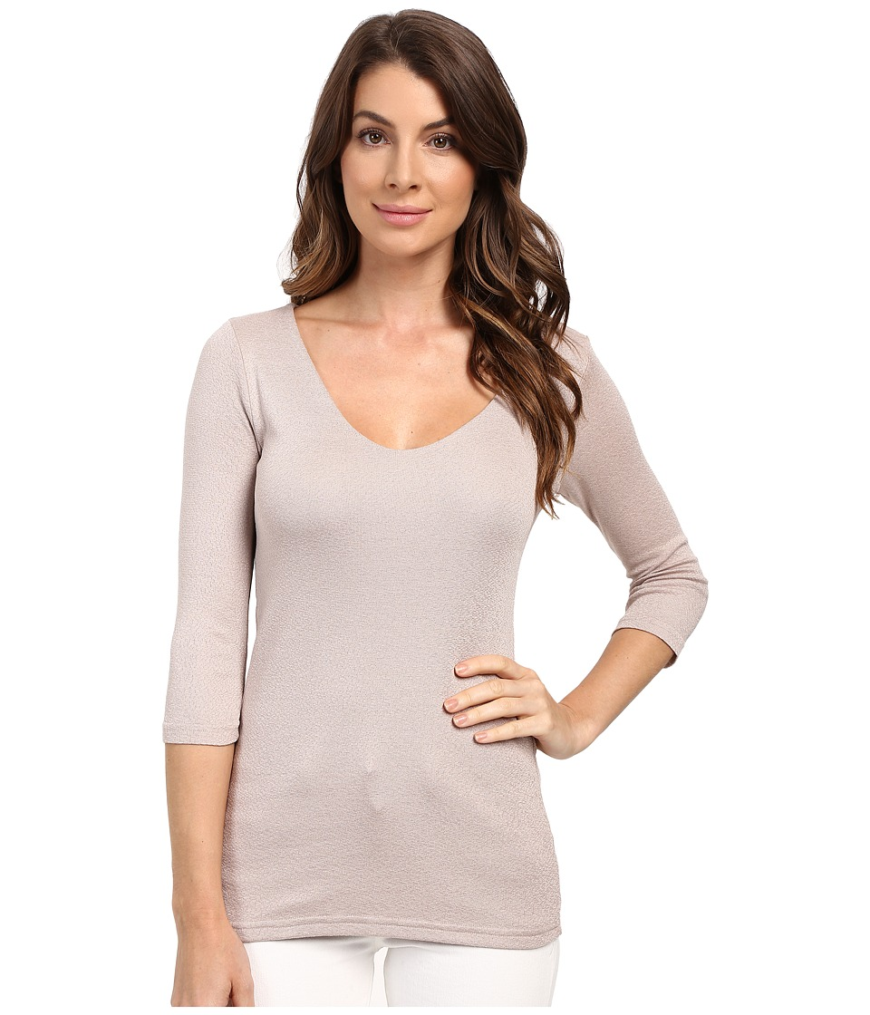 Michael Stars - Shine 3/4 Sleeve Double Front V-Neck (Chai) Women's Long Sleeve Pullover