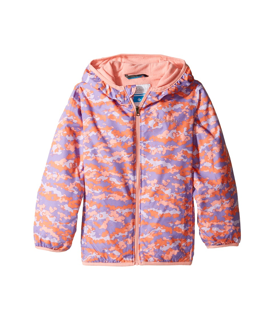 Columbia Kids - Mini Pixel Grabbertm II Wind Jacket (Infant/Toddler) (Paisley Purple Camo/Sorbet) Girl's Coat