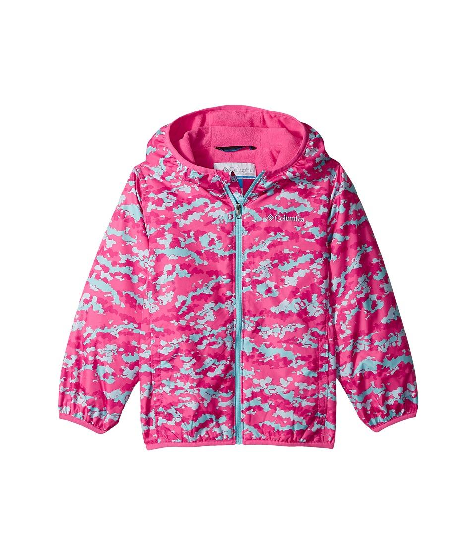 Columbia Kids - Mini Pixel Grabbertm II Wind Jacket (Infant/Toddler) (Wild Geranium Camo/Wild Geranium/Clear Blue) Girl's Coat