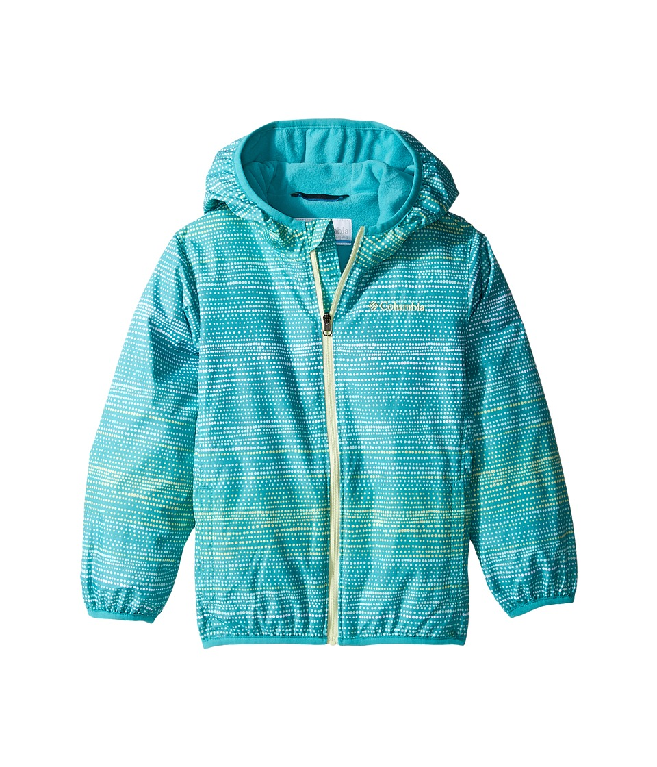 Columbia Kids - Mini Pixel Grabbertm II Wind Jacket (Infant/Toddler) (Miami Dotty Dye Stripe/Miami/Spring Yellow) Girl's Coat