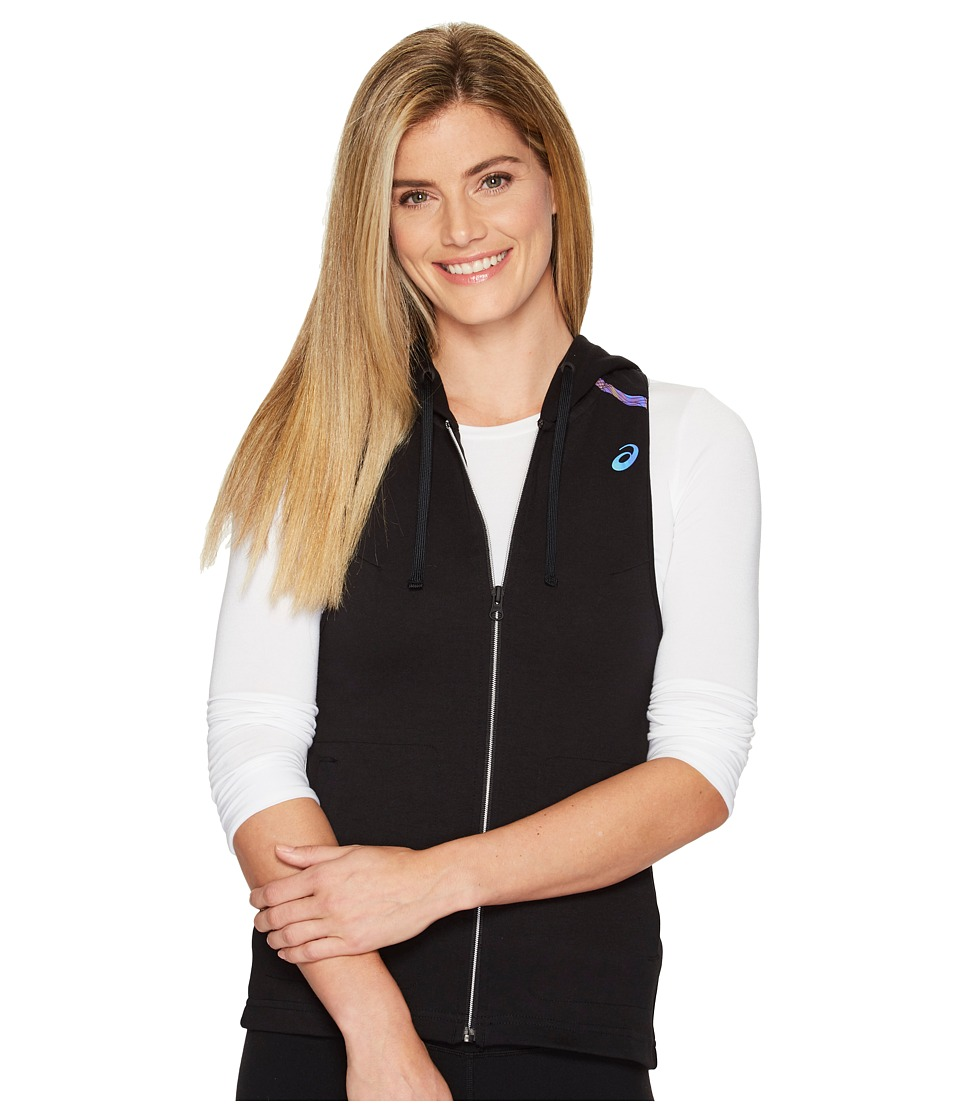 ASICS - Racerback Hooded Vest (Performance Black) Women's Vest