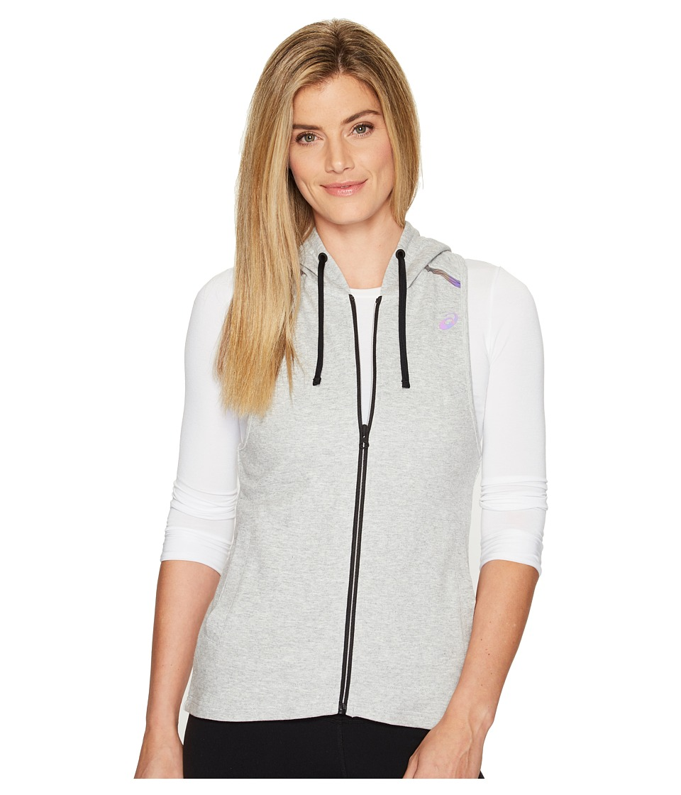 ASICS - Racerback Hooded Vest (Light Grey Heather) Women's Vest