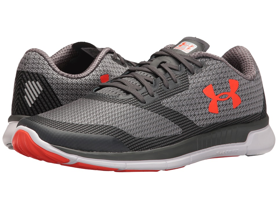 Under Armour - UA Charged Lightning (Rhino Gray/Overcast Gray/Phoenix Fire) Men's Running Shoes