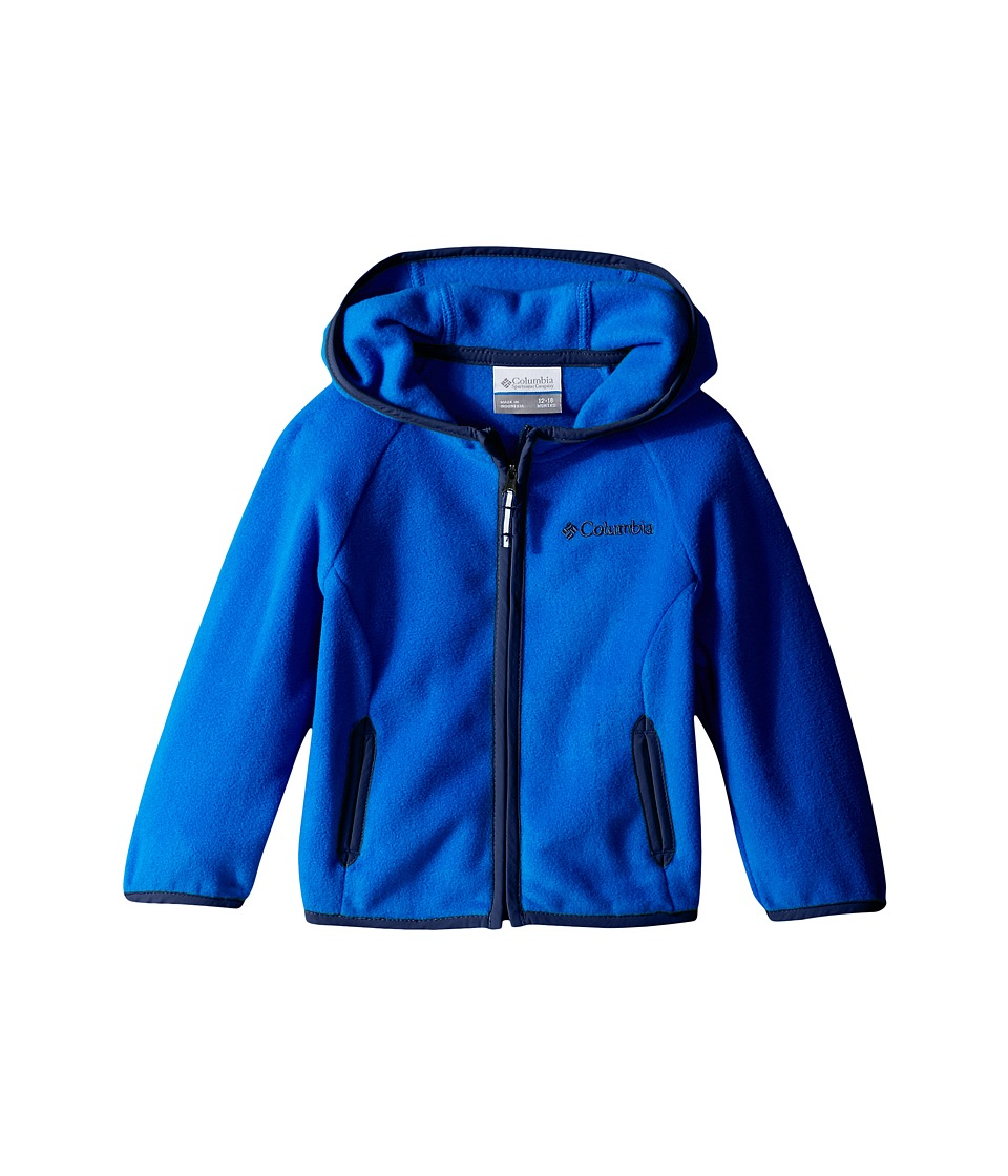 Columbia Kids - Fast Trektm Hoodie (Infant) (Super Blue/Carbon) Girl's Sweatshirt
