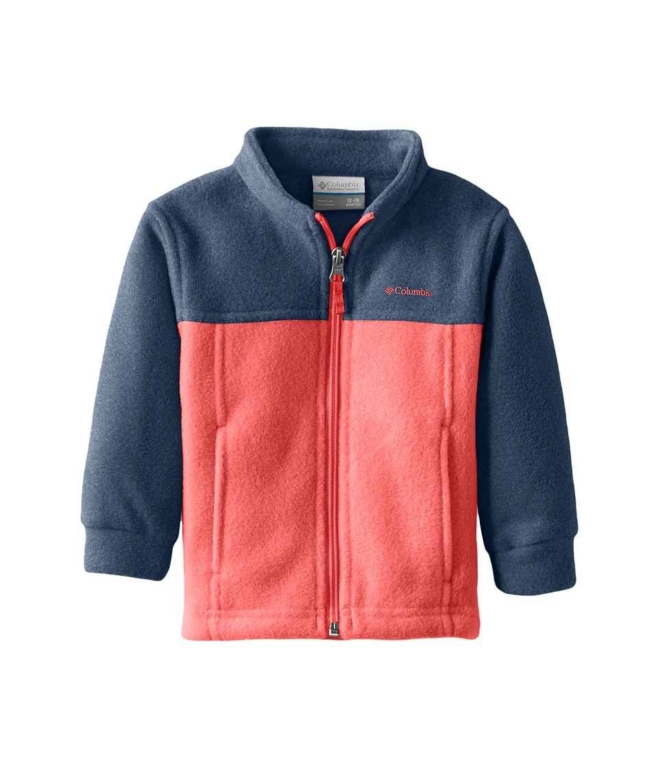 Columbia Kids - Steens Mttm II Fleece (Infant) (Carbon/Sunset Red/Sunset Red) Boy's Fleece
