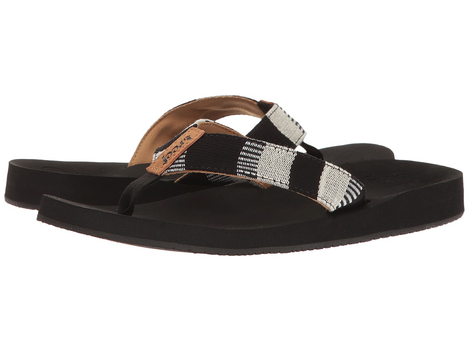 Reef - Cushion Threads TX (Black/White) Women's Sandals