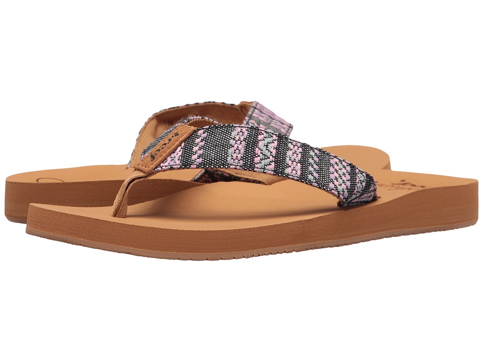 Reef - Cushion Threads TX (Black/Multi) Women's Sandals