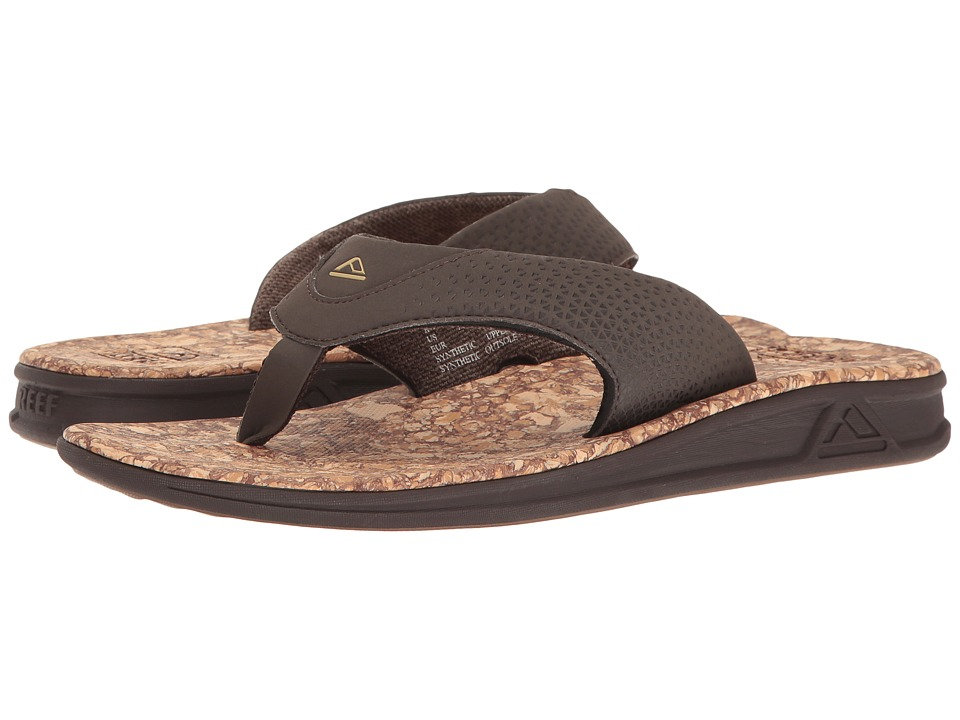 Reef - Rover Prints (Brown/Cork) Men's Sandals