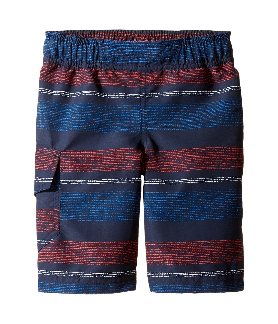 Columbia Kids - Solar Streamtm II Boardshort (Toddler) (Collegiate Navy Stripe 1) Boy's Swimwear