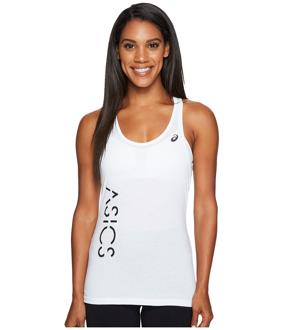 ASICS - Graphic Tank Top (Real White) Women's Sleeveless